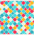 Multicolor Quatrefoil Lattice Pattern seamless vector image