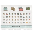 Finance hand drawing line icons doodle vector image