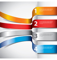 infographics flying ribbons vector image