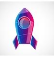 Rocket design concept vector image