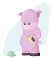 The Sad Pig vector image