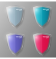 Set of glass shields vector image vector image