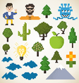 Pixel collection vector image vector image