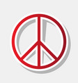 peace sign new year reddish vector image