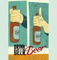 beer typography vintage grunge poster vector image