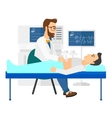 Patient under ultrasound examination vector image