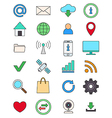 Color social media icons set vector image