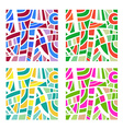 Abstract background in four colors vector image vector image