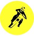 Motocross enduro rider vector image