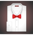 a classic white shirt vector image