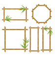 bamboo frame set vector image