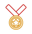 Golden medal design vector image