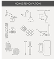 Home renovation icons vector image