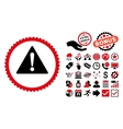 Warning Flat Icon with Bonus vector image