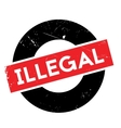 Illegal rubber stamp vector image
