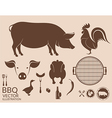 Barbecue grill Pig Chicken vector image vector image