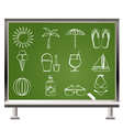 summer and beach objects vector image