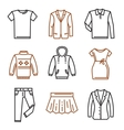 Clothes flat icons vector image