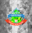 Abstract green pine vector image