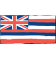 abstract hawaiian flag or banner vector image