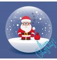 christmas flat santa claus vector image