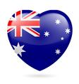 Heart icon of Australia vector image