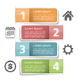 Infographics Elements with Numbers vector image