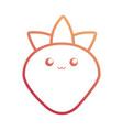 kawaii fruits design concept vector image