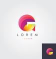 letter G design element for business vis vector image