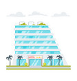 luxury hotel building vector image