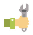 man with wrench for maintenance vector image