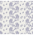 Palmistry seamless pattern vector image