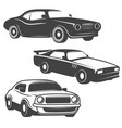 set of cars icons isolated on white background vector image