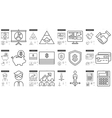 Business line icon set vector image