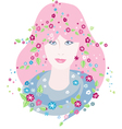Girl of Spring vector image