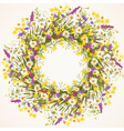 Wreath of wild flower vector image vector image