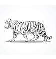 tiger side 2 vector image