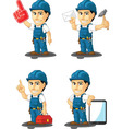 Technician or Repairman Mascot 15 vector image