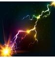 Rainbow colors shining cosmic plasma lightning vector image vector image