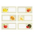 fruits school vector image