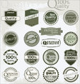 Vintage retro premium quality labels vector image