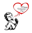 angel or cupid isolated vector image