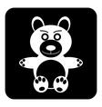 Bear button vector image