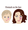 Firemark on the face vector image