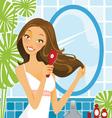 Hairbrush Woman vector image