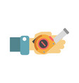 hand with tape-measure vector image