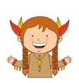 indian girl character icon vector image