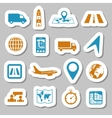 logistic stickers vector image