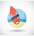 torpedo buoy flat icon vector image