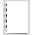 Blank Notebook vector image